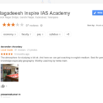 Dr.Jagadeesh Inspire IAS Academy Hyderabad Reviews